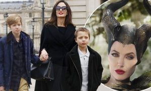 Even among intensifying custody battle with former husband Brad Pitt, Angeline Jolie was photographed with her kids on a hike.