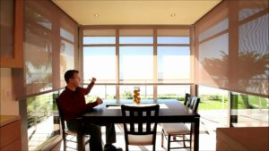 Lutron electric roller blinds